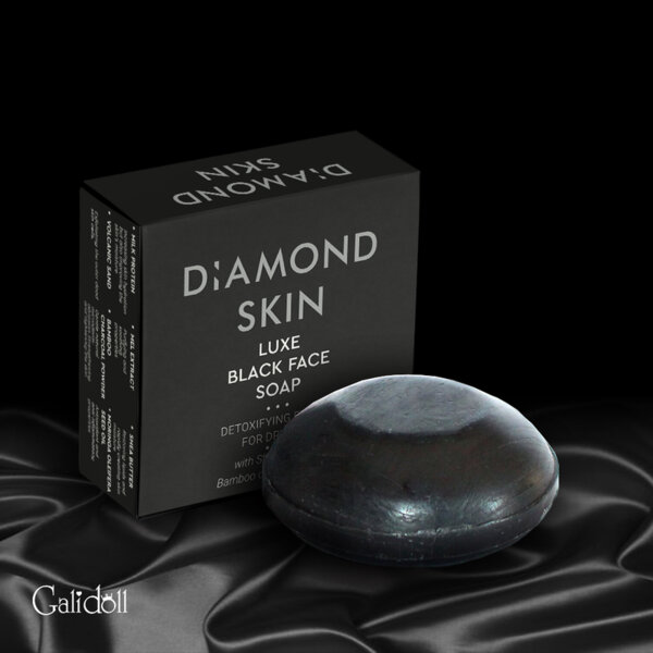Черен сапун  Diamond skin Luxe black face soap