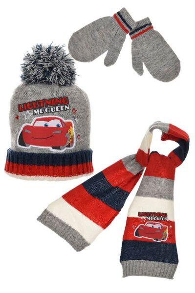 Зимен комплект шапка, шал, ръкавици CARS 65154431