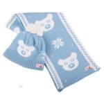 Kомплект шапка и шал за бебе 675007