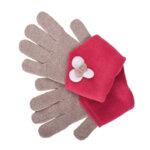 Зимни ръкавици с цвете 672010