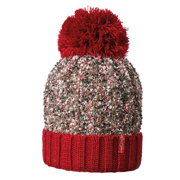Плетена шапка с помпон Criss 640310