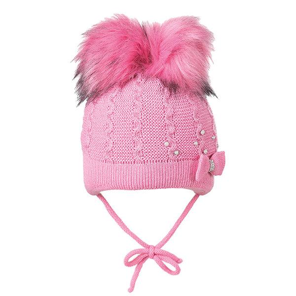 Зимна шапка с два помпона за момиче 634040