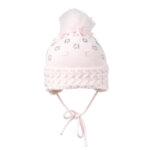 Плетена зимна шапка за малки момиченца 634041