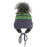 Зимна шапка за момче с помпон 634031