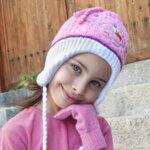 Детска плетена шапка за малки момичета 674024