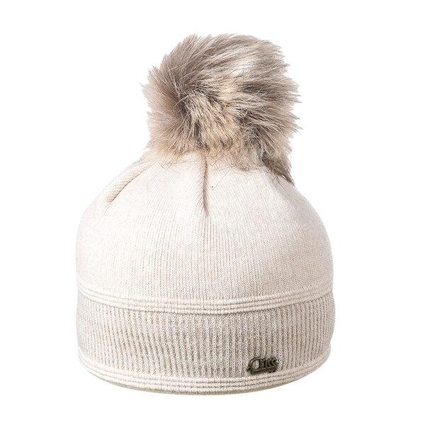 Зимна плетена шапка по главата за момиче 670051