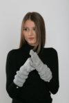 Дамски елегантни ръкавици с перли 672011