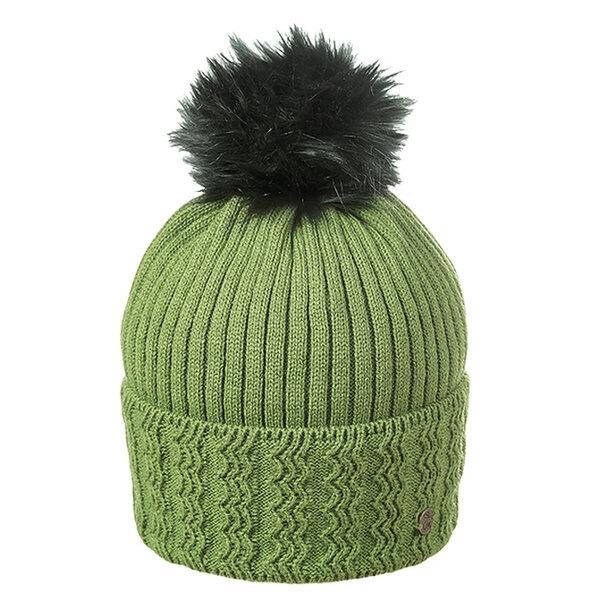 Дамска шапка от вълна с помпон 630006