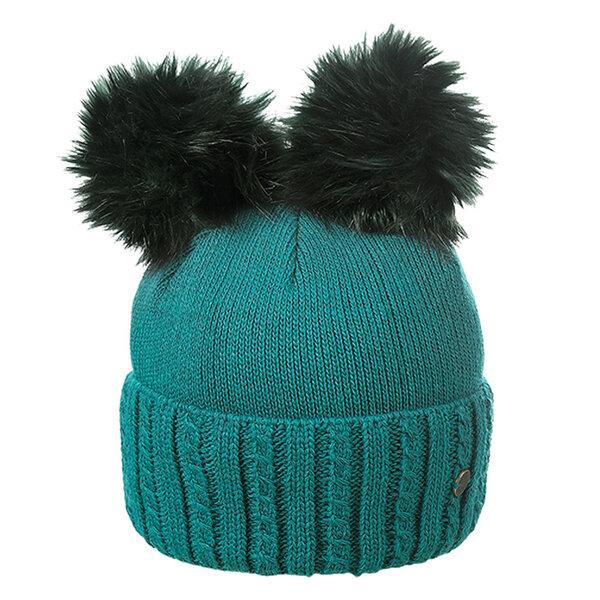 Дамска шапка два помпона Criss 630005