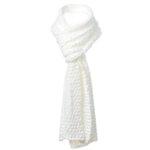 Едноцветен плетен шал 673013