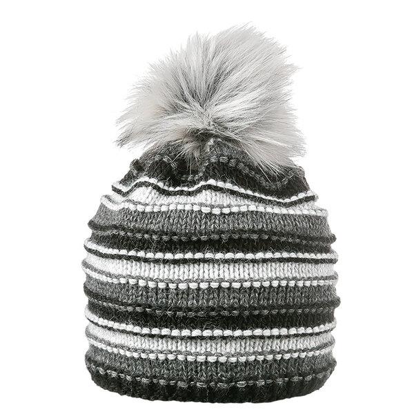 Зимна шапка меланж с помпон 670078