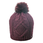 Зимна дамска плетена шапка с помпон 670028