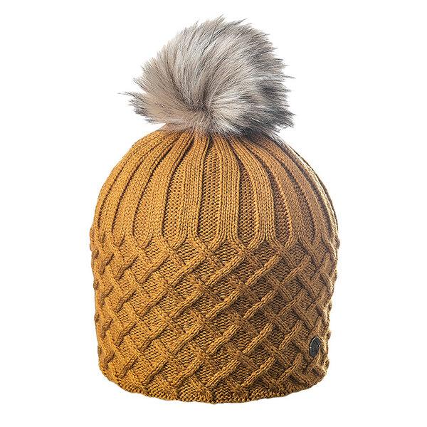 Плетена зимна дамска шапка 670054