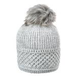 Зимна шапка с подплата и помпон Criss 670084