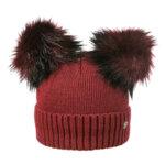 Зимна шапка с два помпона Criss 630090