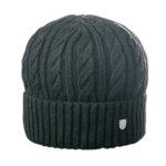Зимна мъжка шапка с плетеници 670011