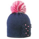 Детска зимна шапка с перли 634005