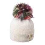 Детска шапка с многоцветен помпон 634016
