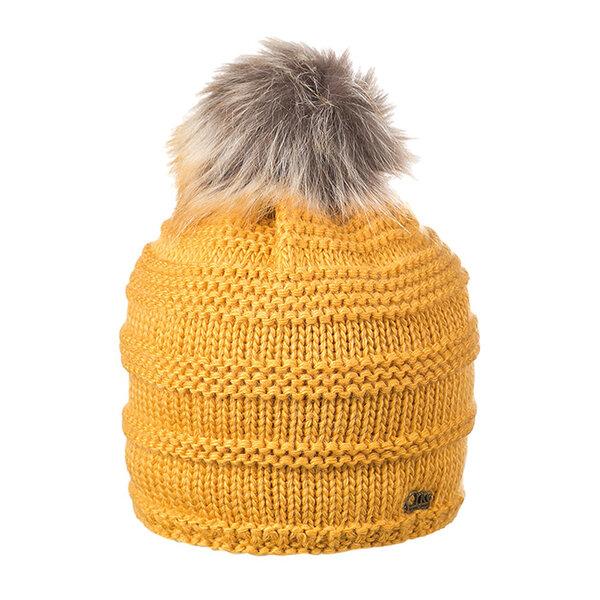 Плетена шапка с помпон Criss 670025
