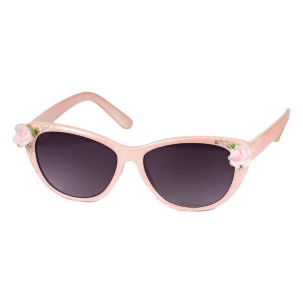Детски слънчеви очила с камъчета и цветя момиче - 054235