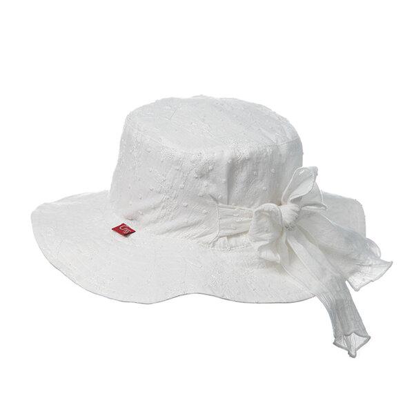 Детска шапка за момиче в бяло 774065
