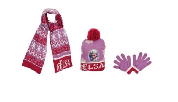 Зимна шапка, шал, ръкавици Frozen 65174045