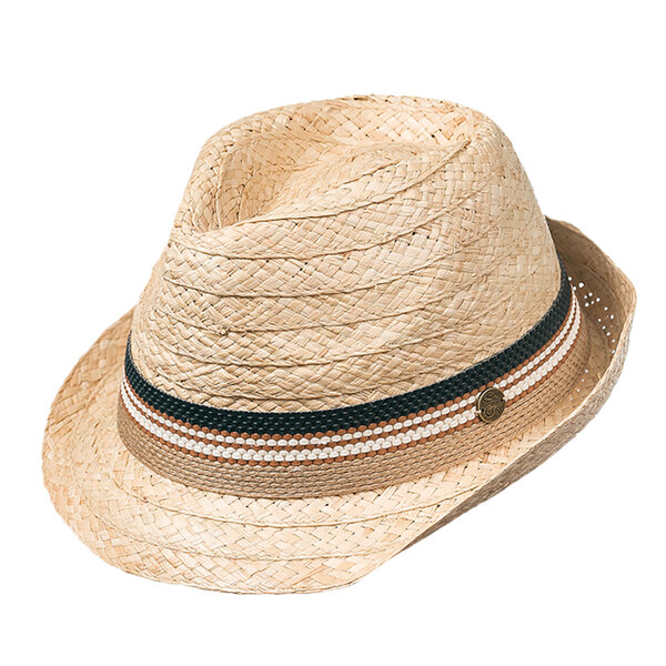 Лятна шапка бомбе от рафия 742100