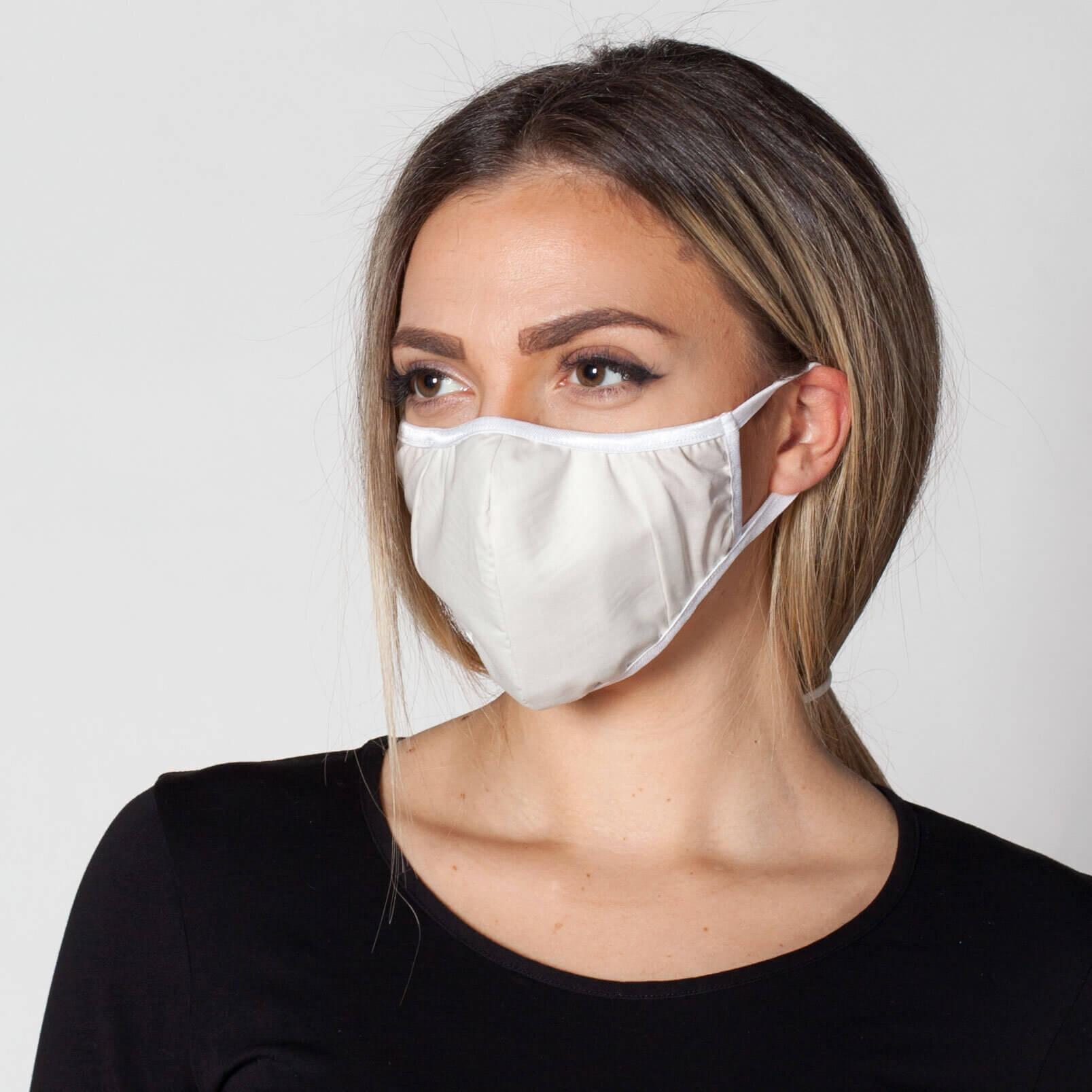 Купи бели маски с филтър със сребърни йони от Promask. Предпазните маски са със сертификати за качество и са за многократна употреба.