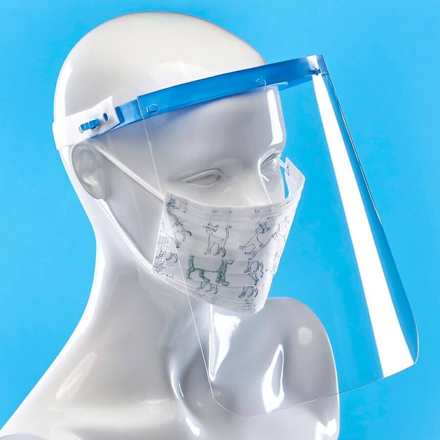 Предпазен шлем за лице, сигурна защита против пръски. Лесен за дезинфекция. Може да се комбинира с маска с филтър от promask. Доставка за 1 работен ден.