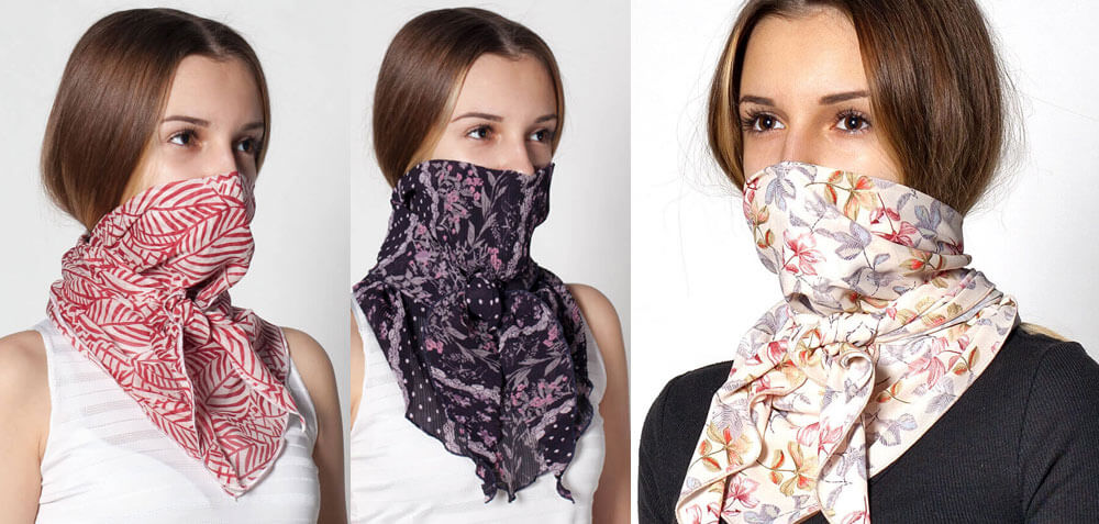 Елегантна алтернатива на маските с филтър е специално разработен предпазен шал, който покрива носа и устата, а в специален джоб може да се постави филтър със сребърни йони от Promask.