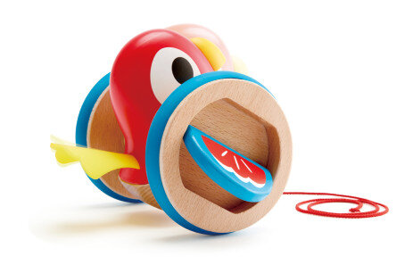 H0360 Дървена играчка за дърпане – Пиленце