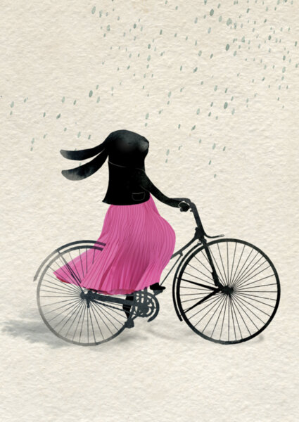 Зайче кара колело
