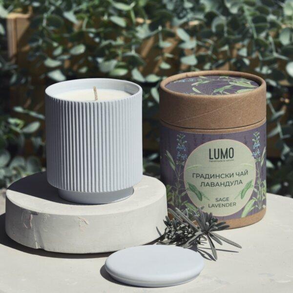 Ароматна свещ Градински чай и Лавандула