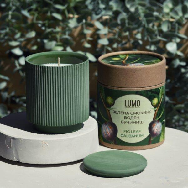 Ароматна свещ Зелена смокиня и Воден бучиниш