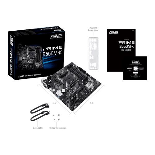 ASUS Prime B550M-K socket AM4, 4xDDR4, PCIe 4.0, Dual M.2