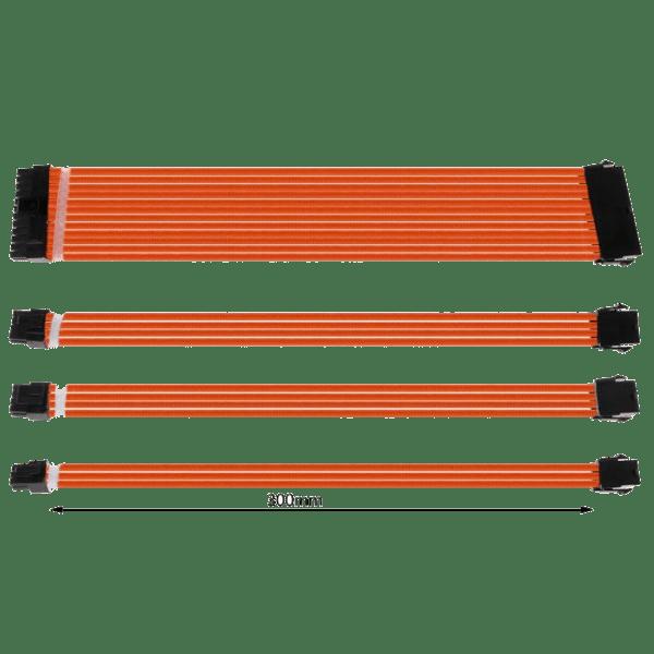 Комплект оплетени къстъм кабели ORANGE
