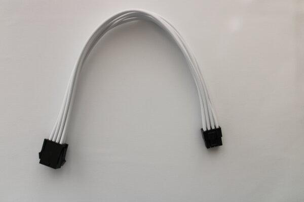 Екстендър кабел 6+2PIN VGA 30см, бял