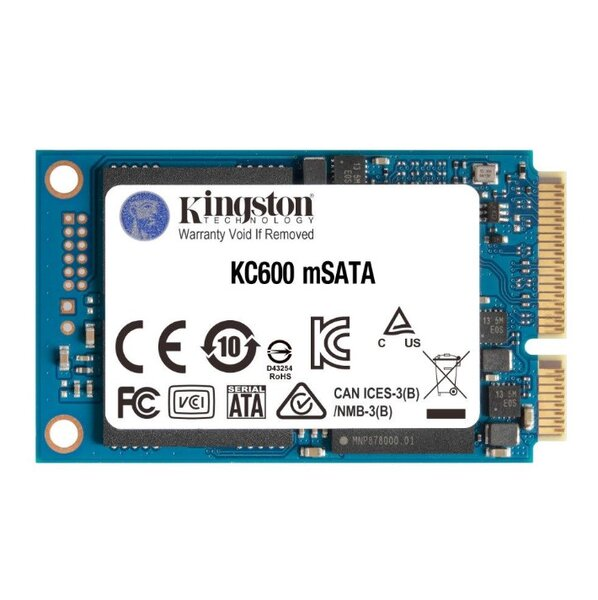 SSD KINGSTON KC600, 256GB, mSATA, SKC600MS/256G