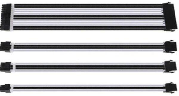 Комплект оплетени къстъм кабели BLACK/WHITE