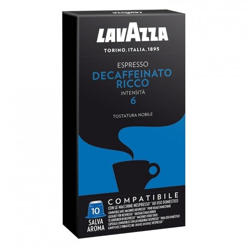 Lavazza Decaffeinato Ricco - Nespresso® съвместими капсули