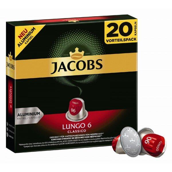 Jacobs Lungo Classico - 20бр. Nespresso® съвместими капсули