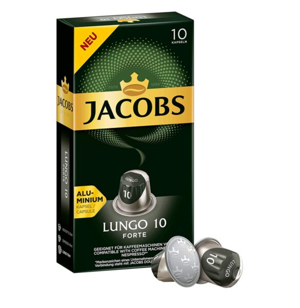 Jacobs Lungo Forte - 10бр. Nespresso® съвместими капсули