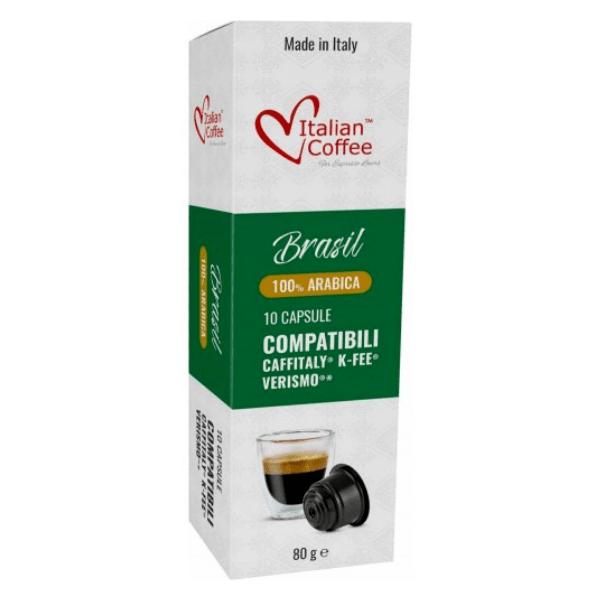 Italian Coffee Brasil 100% Arabica - 10 Caffitaly съвместими капсули