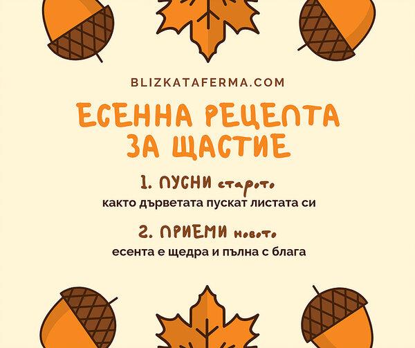 Есенна рецепта