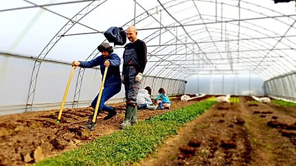 Двама фермери в лехата