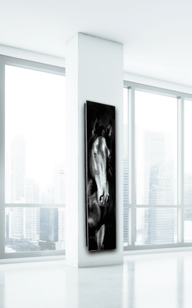 Дизайнерски радиатор с единично стъкло - GLASS