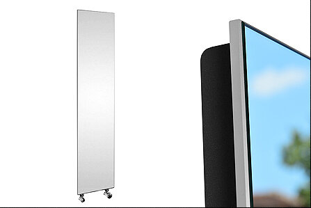 Дизайнерски радиатор със стъклен панел и огледална повърхност - MIRROR