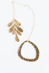 LEAF AND CIRCLE BRASS ORNAMENT-Copy