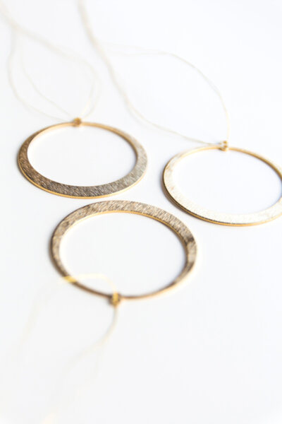 CIRCLE BRASS ORNAMENTS (set of 3)