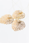 TEXTURED LEAF BRASS ORNAMENTS (set of 3)-Copy